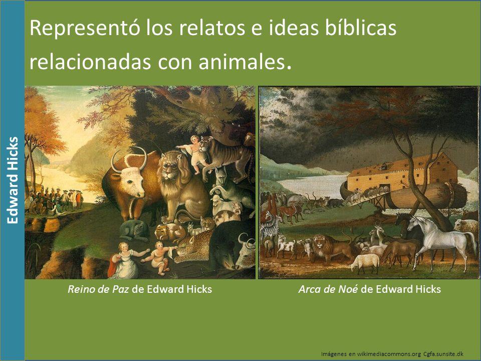 Representó los relatos e ideas bíblicas relacionadas con animales.