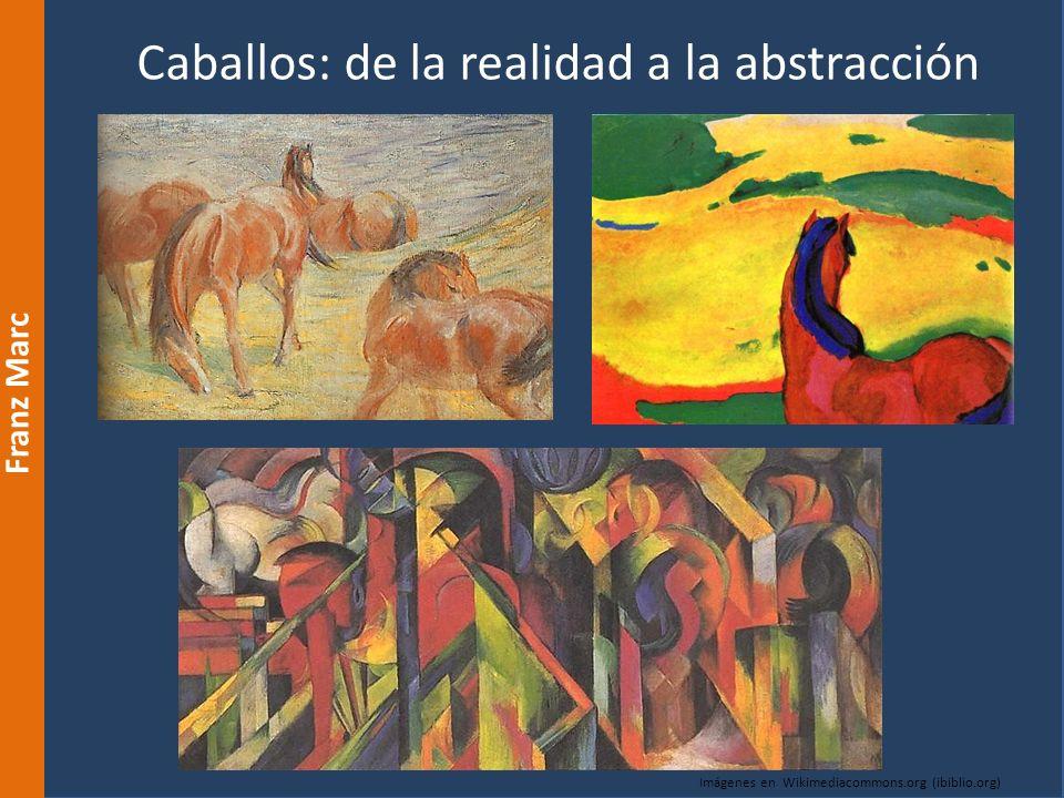 Caballos: de la realidad a la abstracción