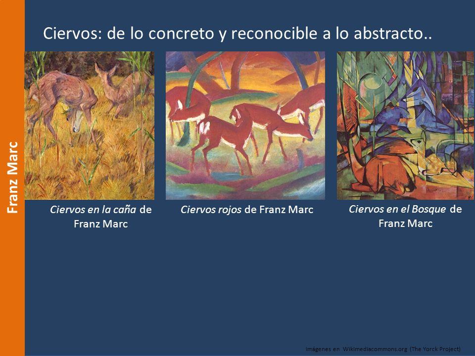 Ciervos: de lo concreto y reconocible a lo abstracto..