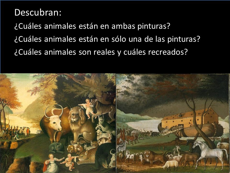 Descubran: ¿Cuáles animales están en ambas pinturas