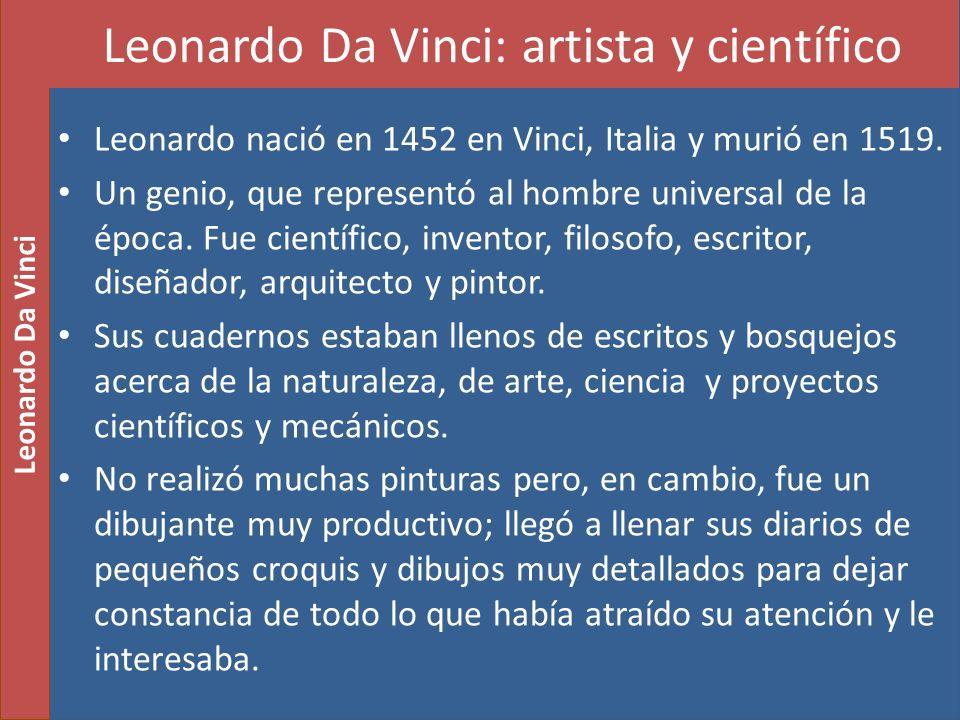 Leonardo Da Vinci: artista y científico