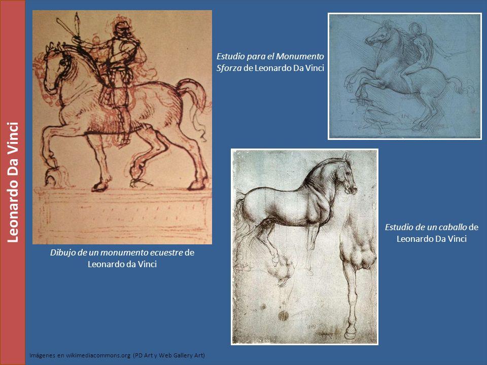 Estudio para el Monumento Sforza de Leonardo Da Vinci