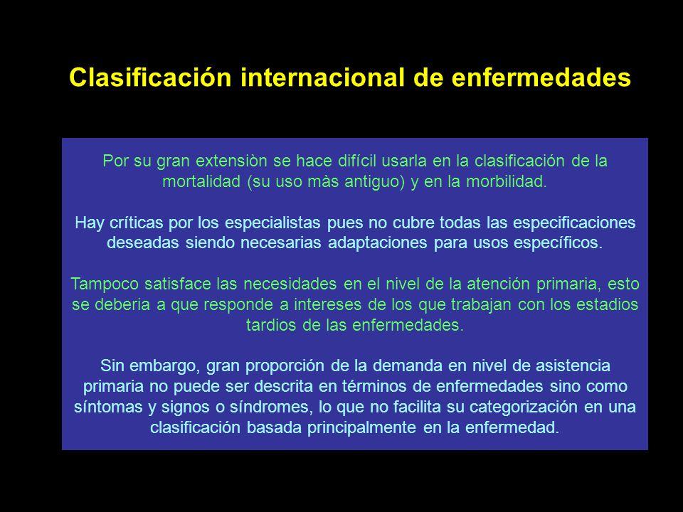 Clasificación internacional de enfermedades