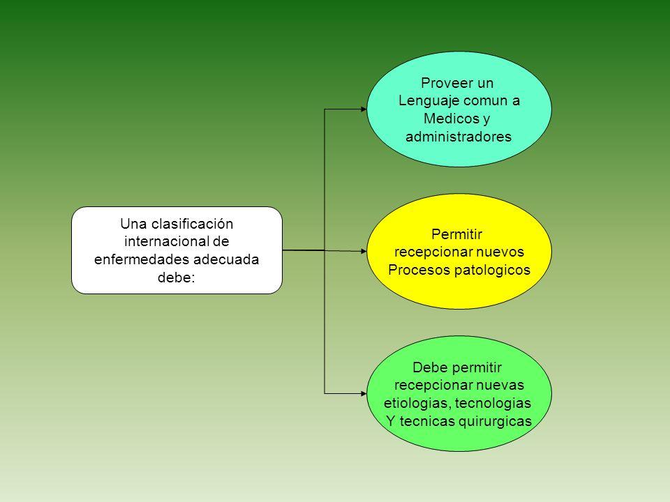 Una clasificación internacional de enfermedades adecuada debe: