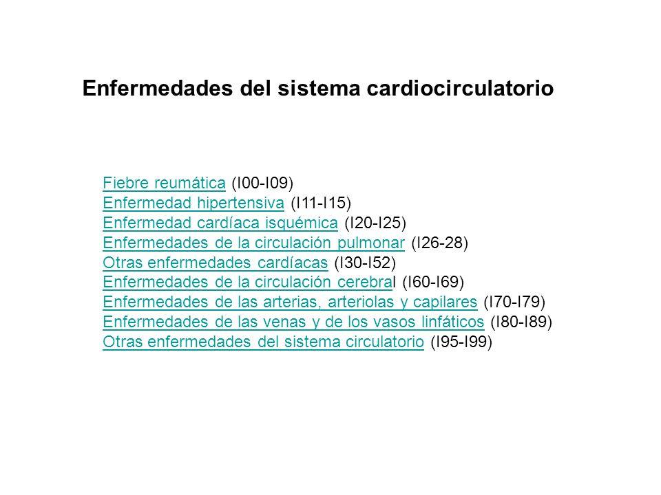Enfermedades del sistema cardiocirculatorio