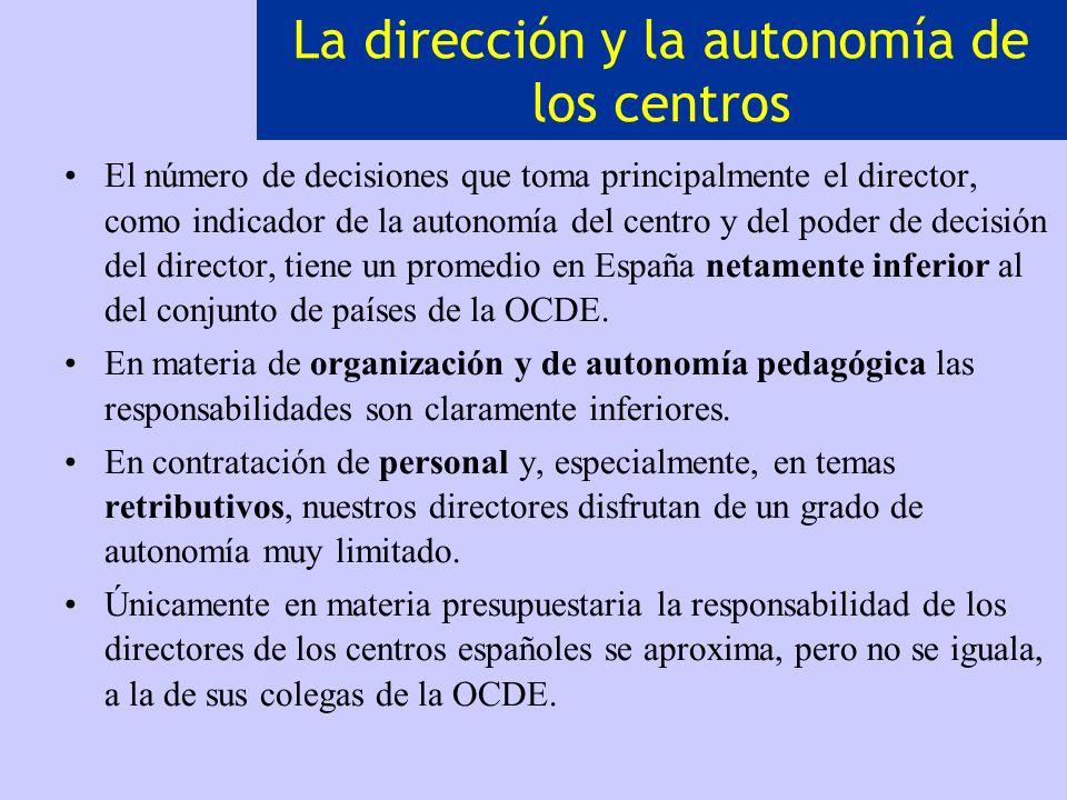 La dirección y la autonomía de los centros