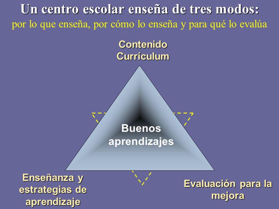 Enseñanza y estrategias de aprendizaje Evaluación para la mejora