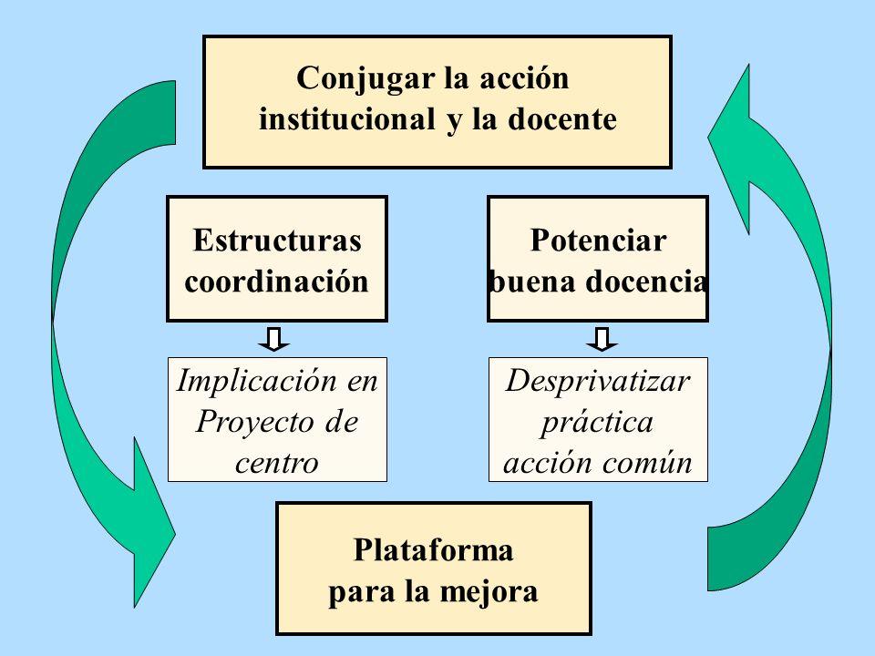 institucional y la docente