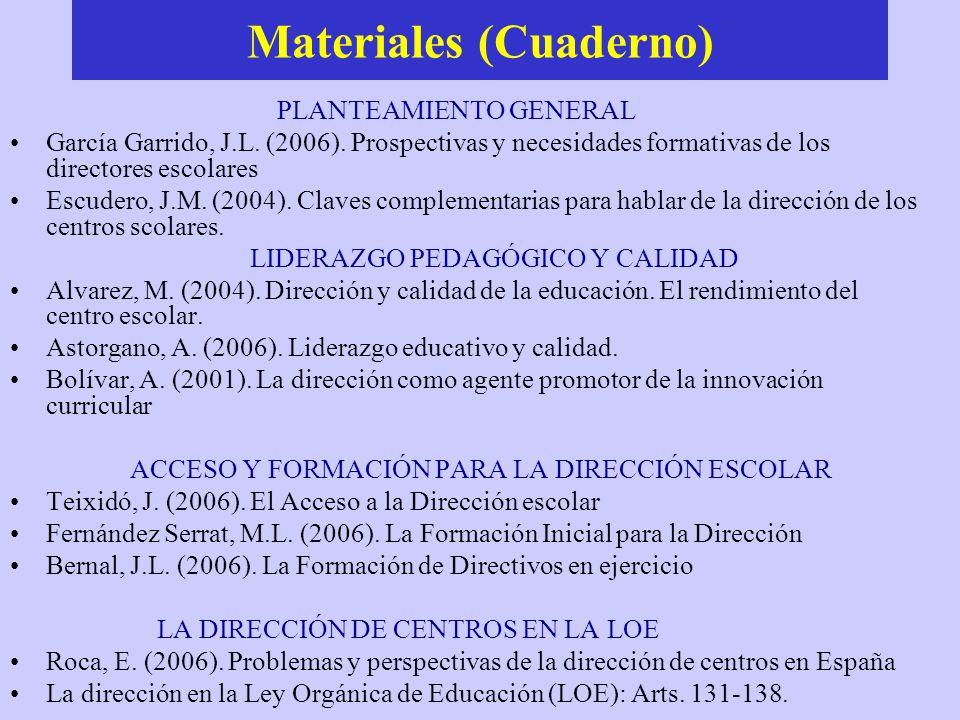 Materiales (Cuaderno)