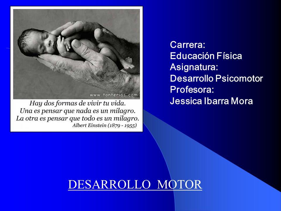 Carrera: Educación Física Asignatura: Desarrollo Psicomotor Profesora: Jessica Ibarra Mora