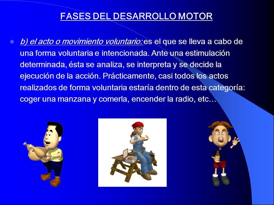 FASES DEL DESARROLLO MOTOR
