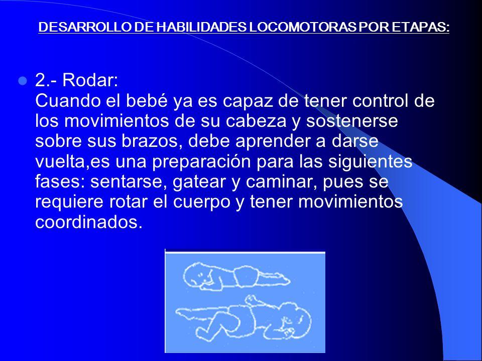 DESARROLLO DE HABILIDADES LOCOMOTORAS POR ETAPAS: