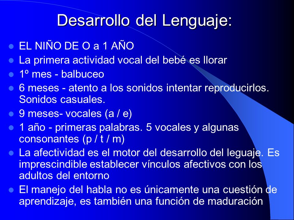 Desarrollo del Lenguaje: