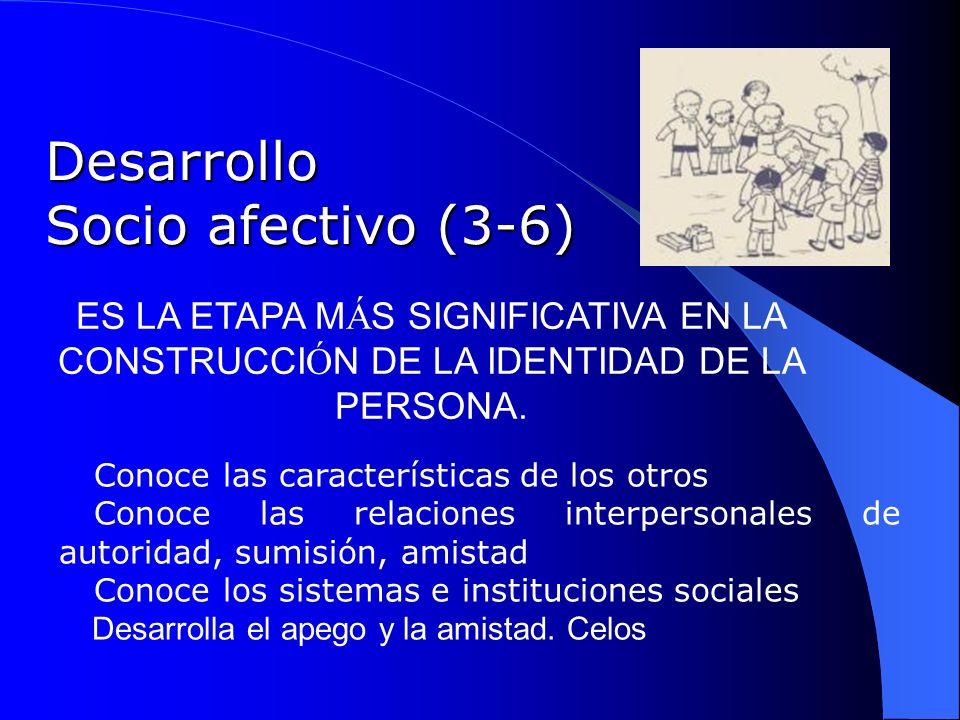 Desarrollo Socio afectivo (3-6)