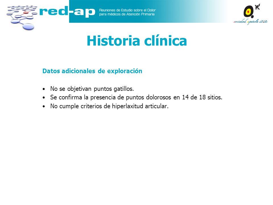 Historia clínica Datos adicionales de exploración