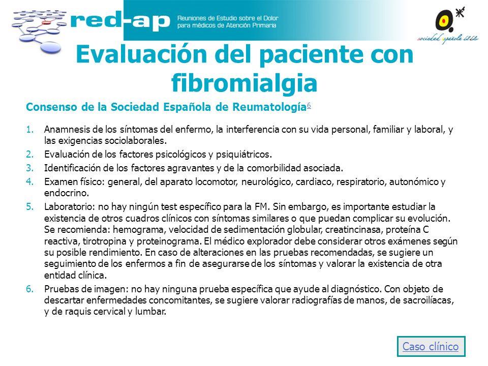 Evaluación del paciente con fibromialgia