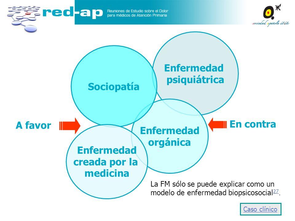 Enfermedad psiquiátrica Sociopatía Enfermedad A favor orgánica
