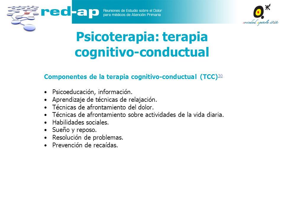 Psicoterapia: terapia cognitivo-conductual