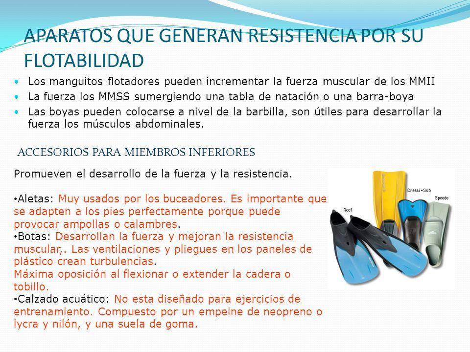 APARATOS QUE GENERAN RESISTENCIA POR SU FLOTABILIDAD