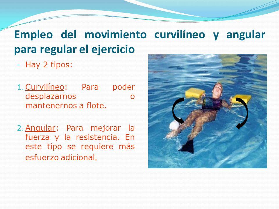 Empleo del movimiento curvilíneo y angular para regular el ejercicio
