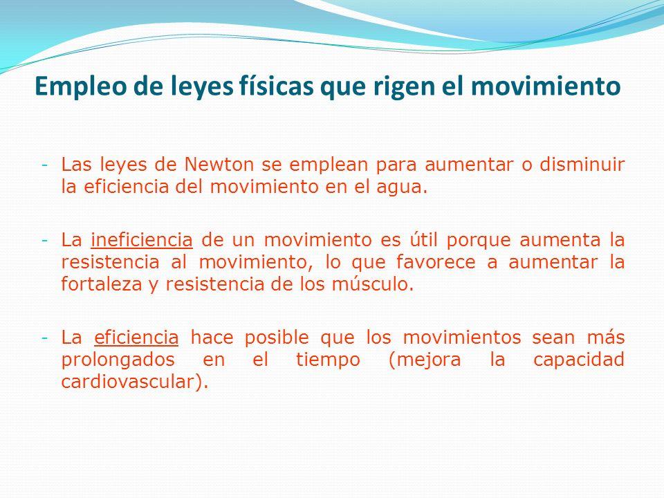 Empleo de leyes físicas que rigen el movimiento