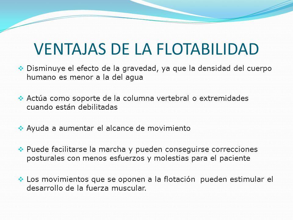 VENTAJAS DE LA FLOTABILIDAD