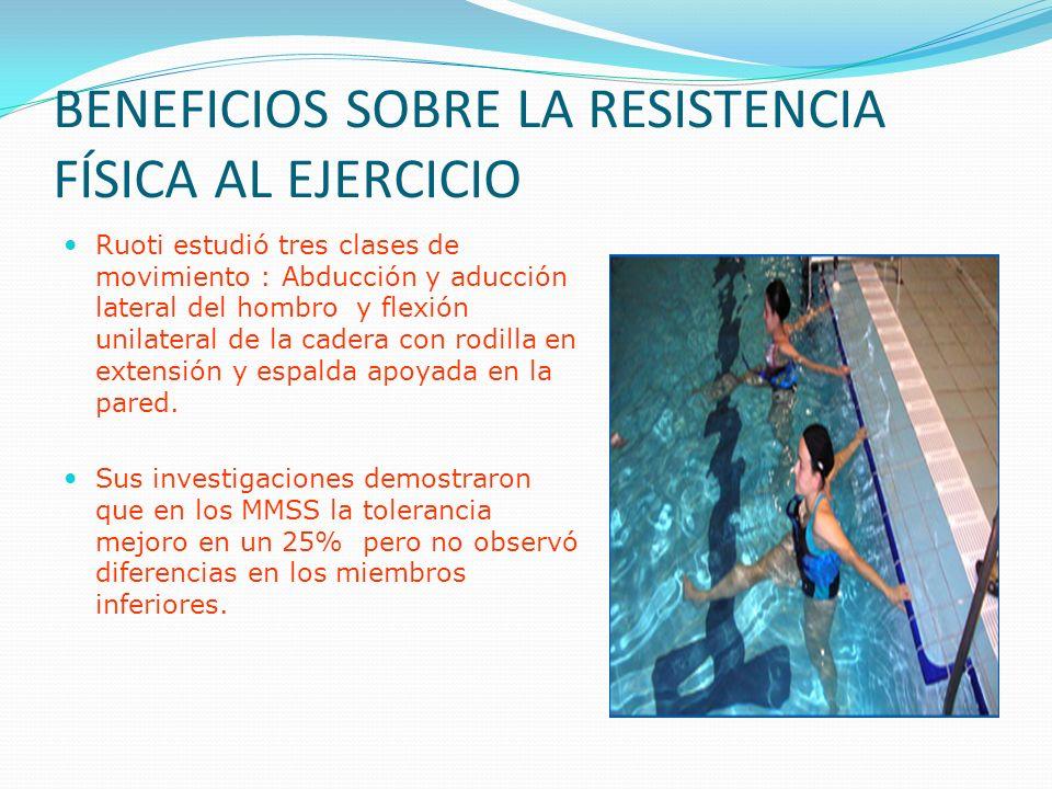 BENEFICIOS SOBRE LA RESISTENCIA FÍSICA AL EJERCICIO