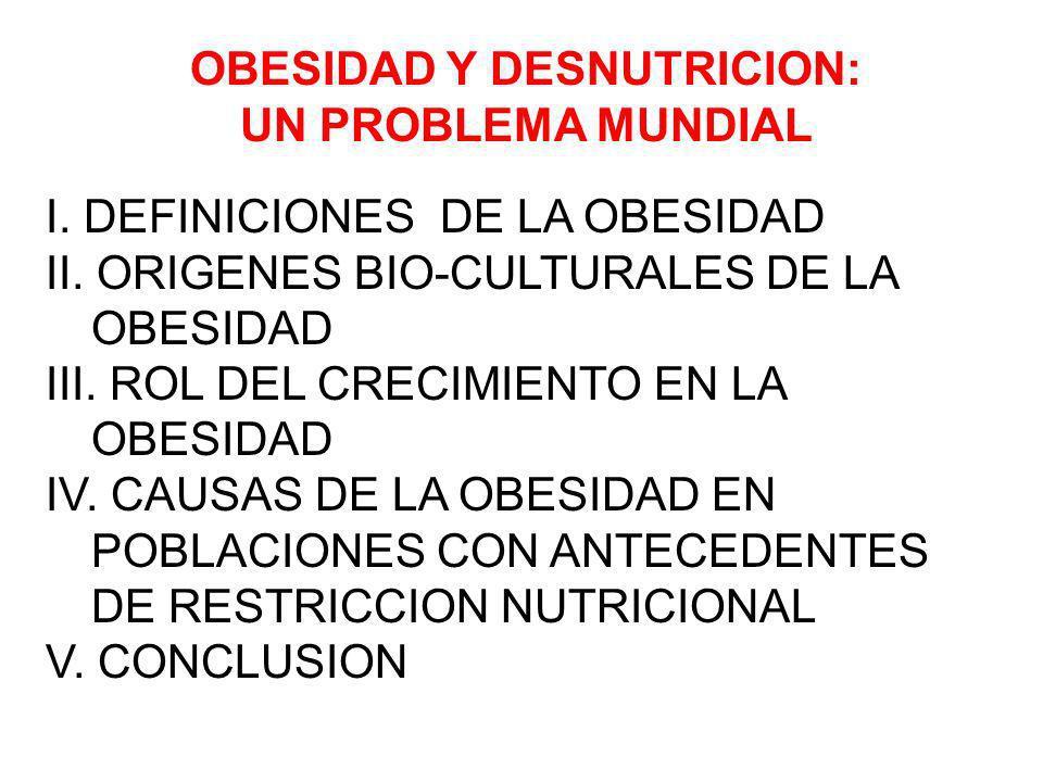 OBESIDAD Y DESNUTRICION: