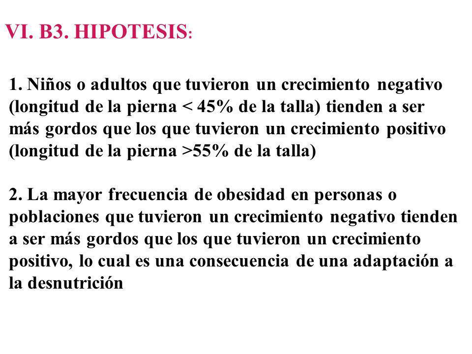 VI. B3. HIPOTESIS: