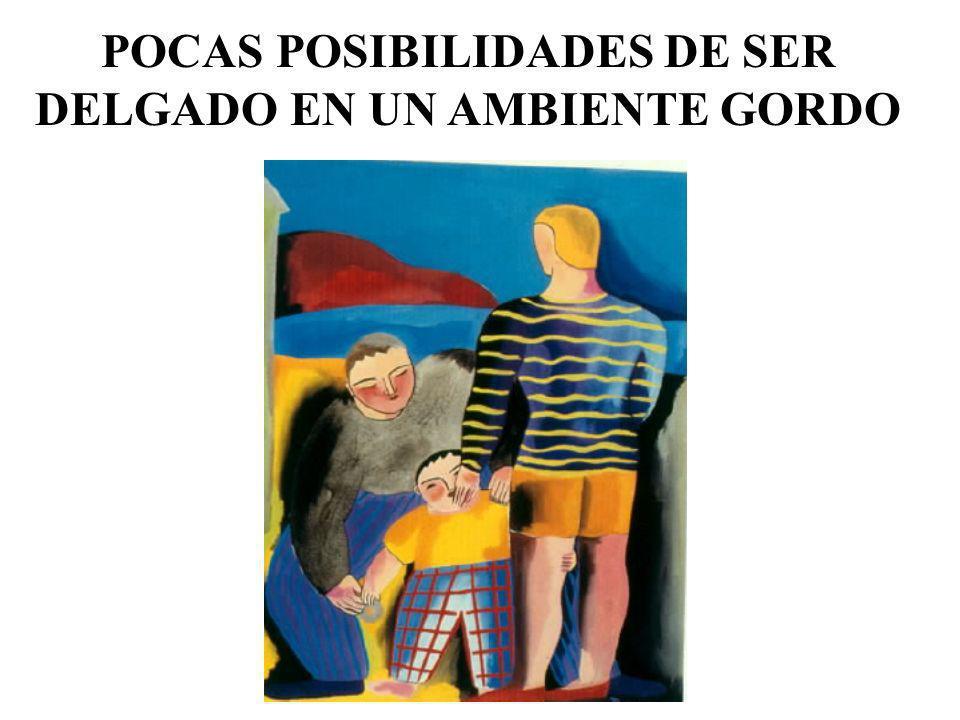 POCAS POSIBILIDADES DE SER DELGADO EN UN AMBIENTE GORDO