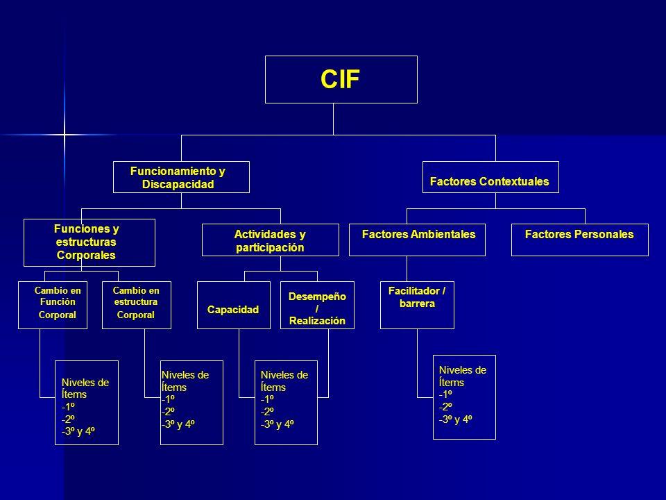 CIF Funcionamiento y Discapacidad Factores Contextuales