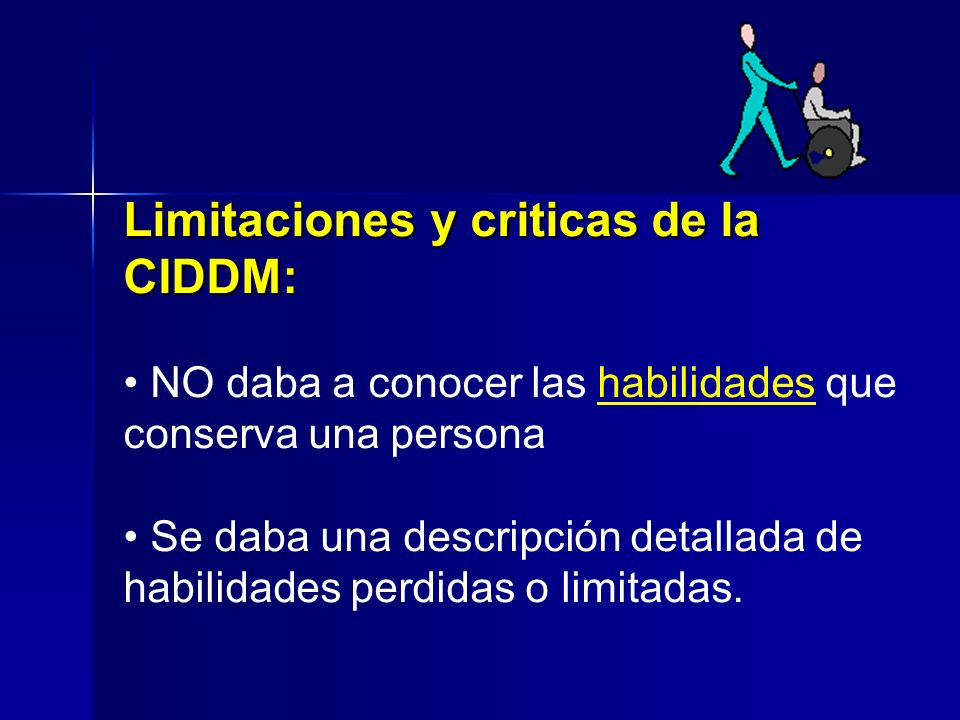 Limitaciones y criticas de la CIDDM: