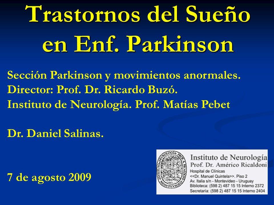 Trastornos del Sueño en Enf. Parkinson