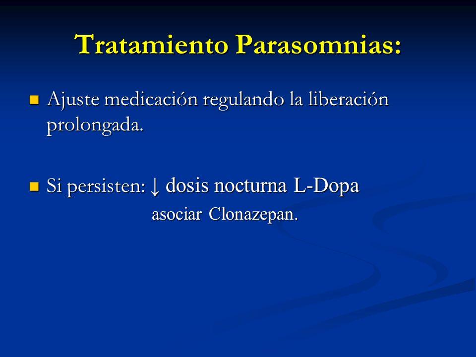 Tratamiento Parasomnias: