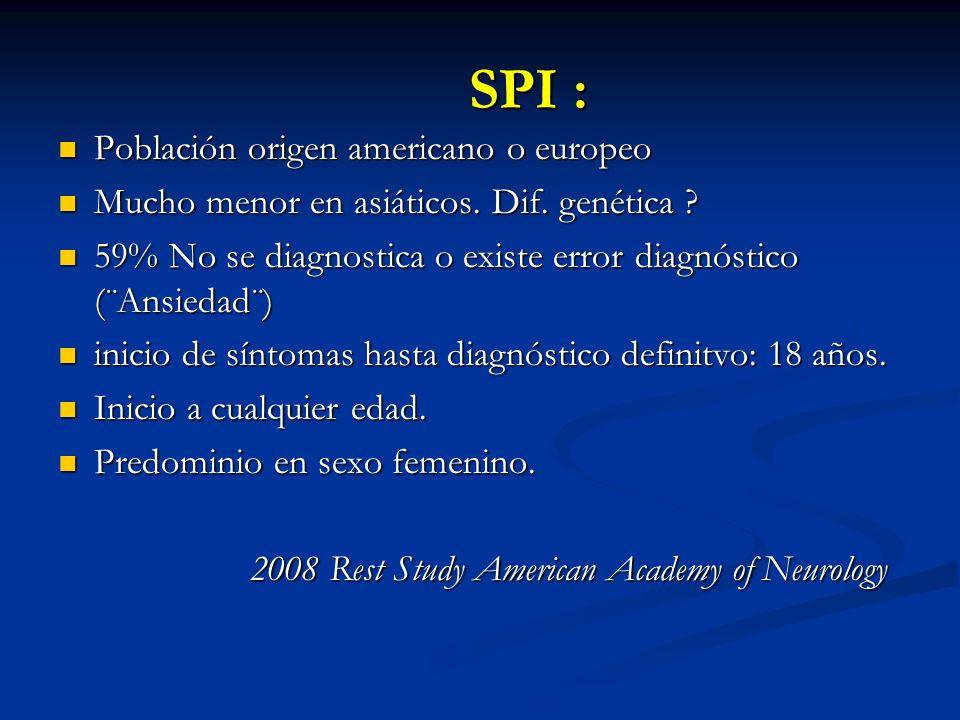 SPI : Población origen americano o europeo