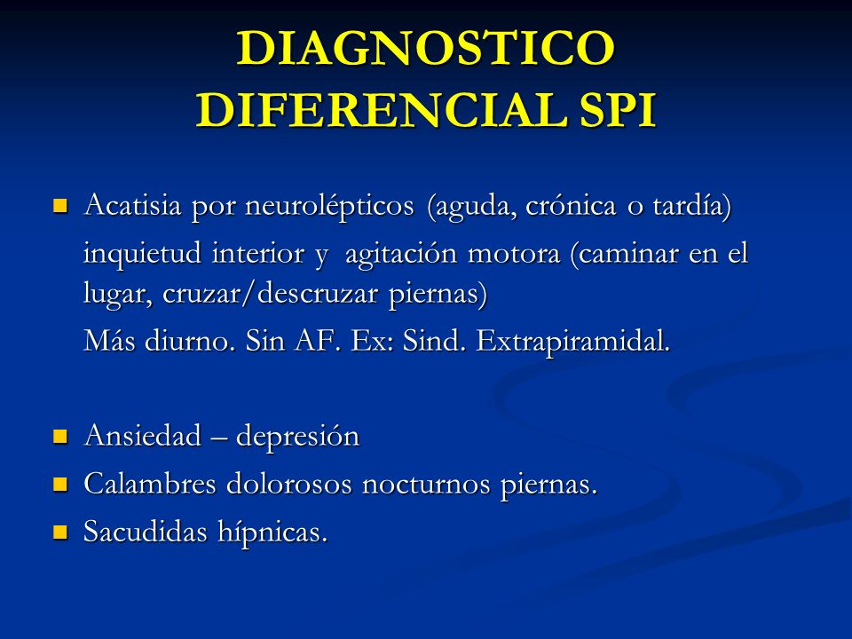 DIAGNOSTICO DIFERENCIAL SPI
