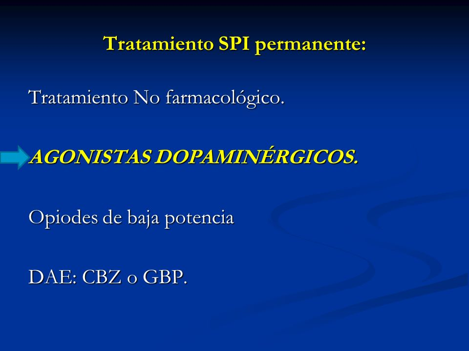 Tratamiento SPI permanente: