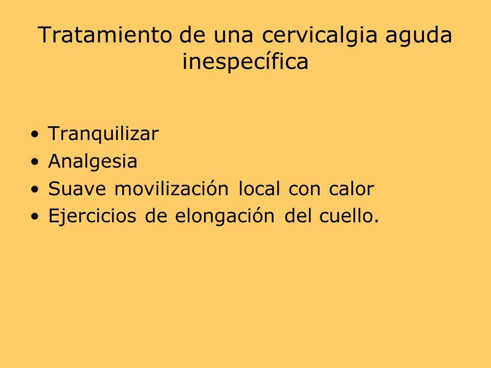 Tratamiento de una cervicalgia aguda inespecífica