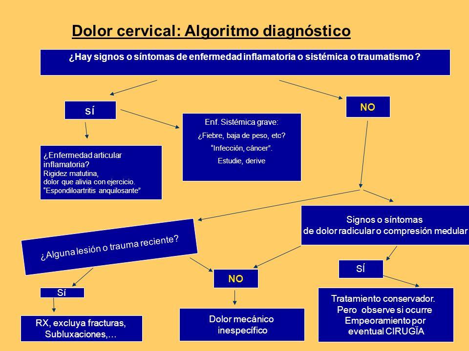 Dolor cervical: Algoritmo diagnóstico