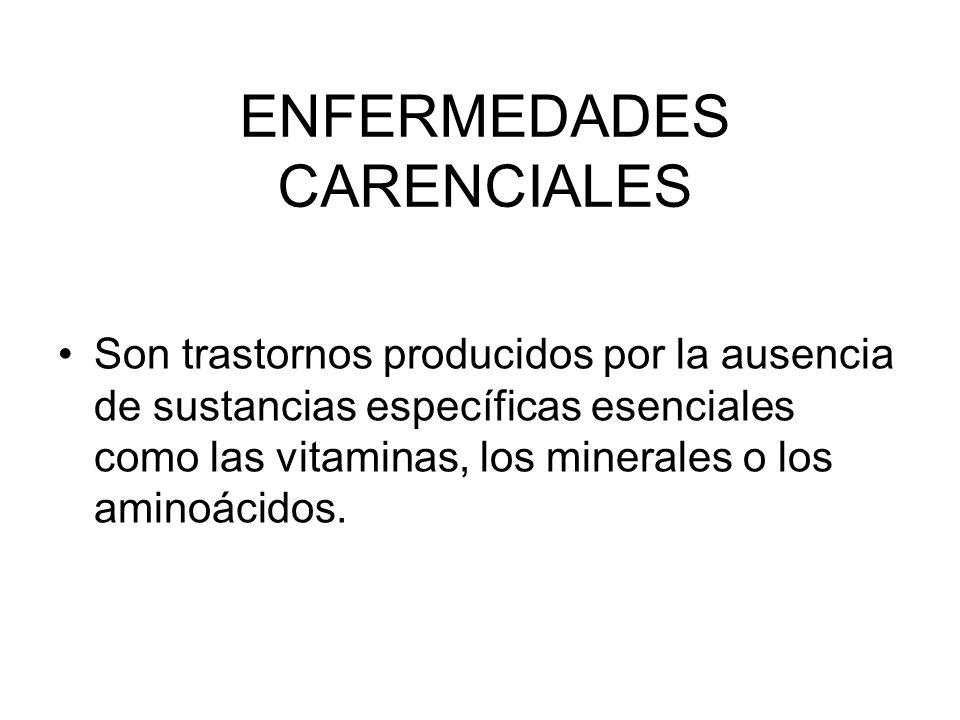 ENFERMEDADES CARENCIALES