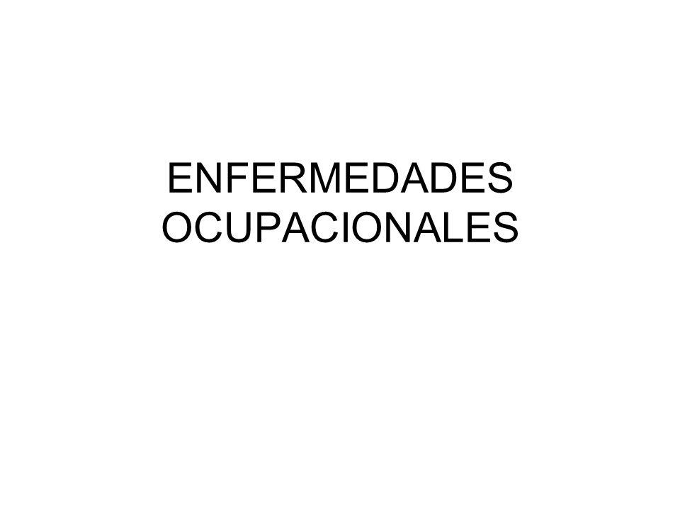ENFERMEDADES OCUPACIONALES
