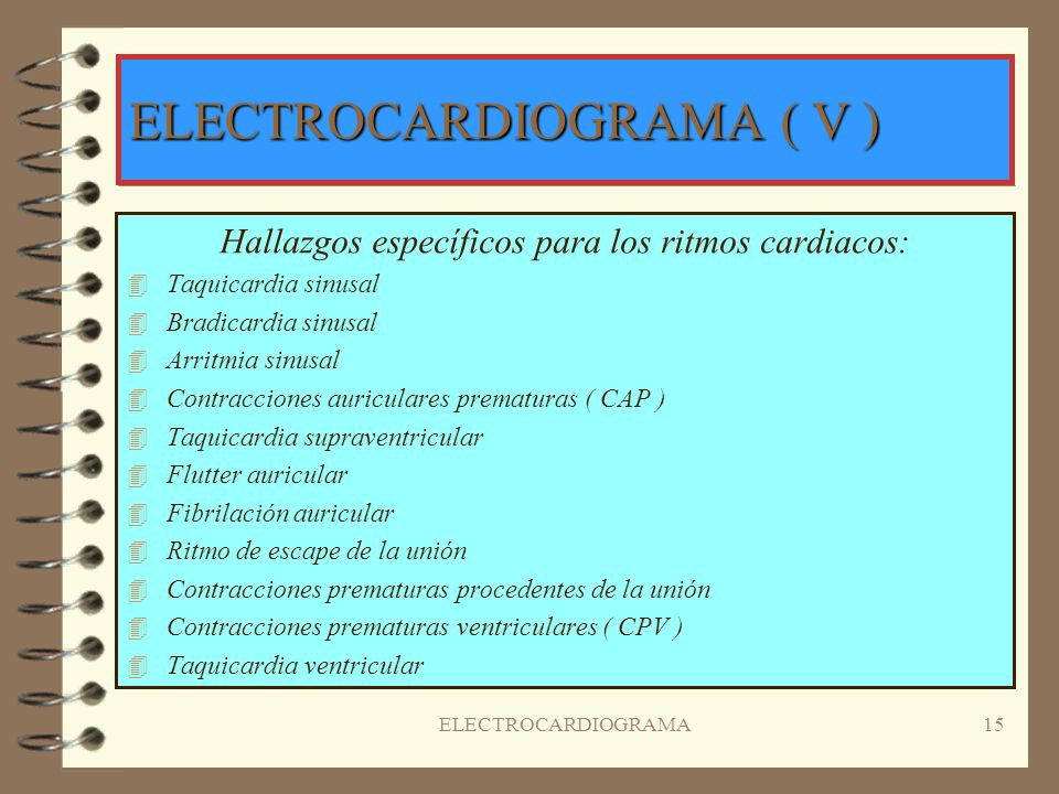 ELECTROCARDIOGRAMA ( V )