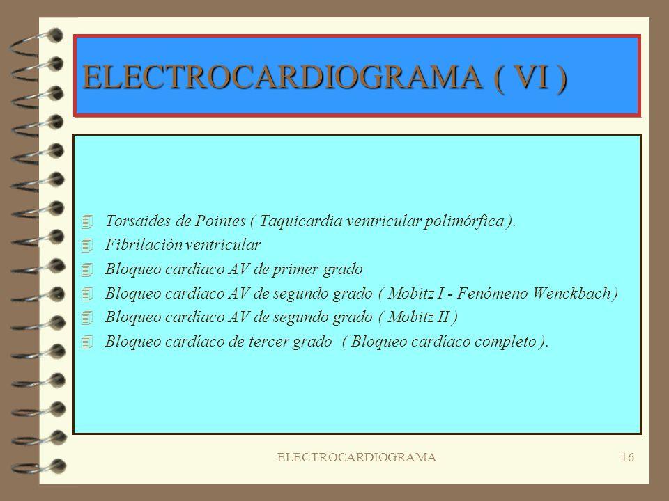 ELECTROCARDIOGRAMA ( VI )