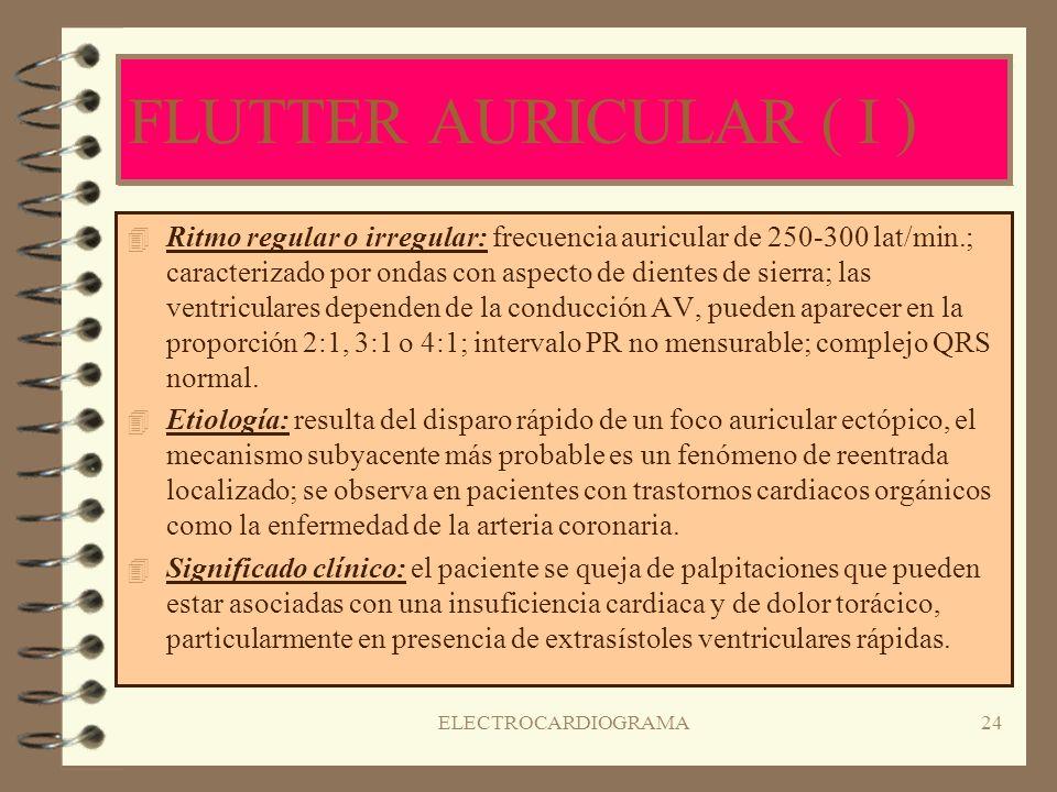 FLUTTER AURICULAR ( I )