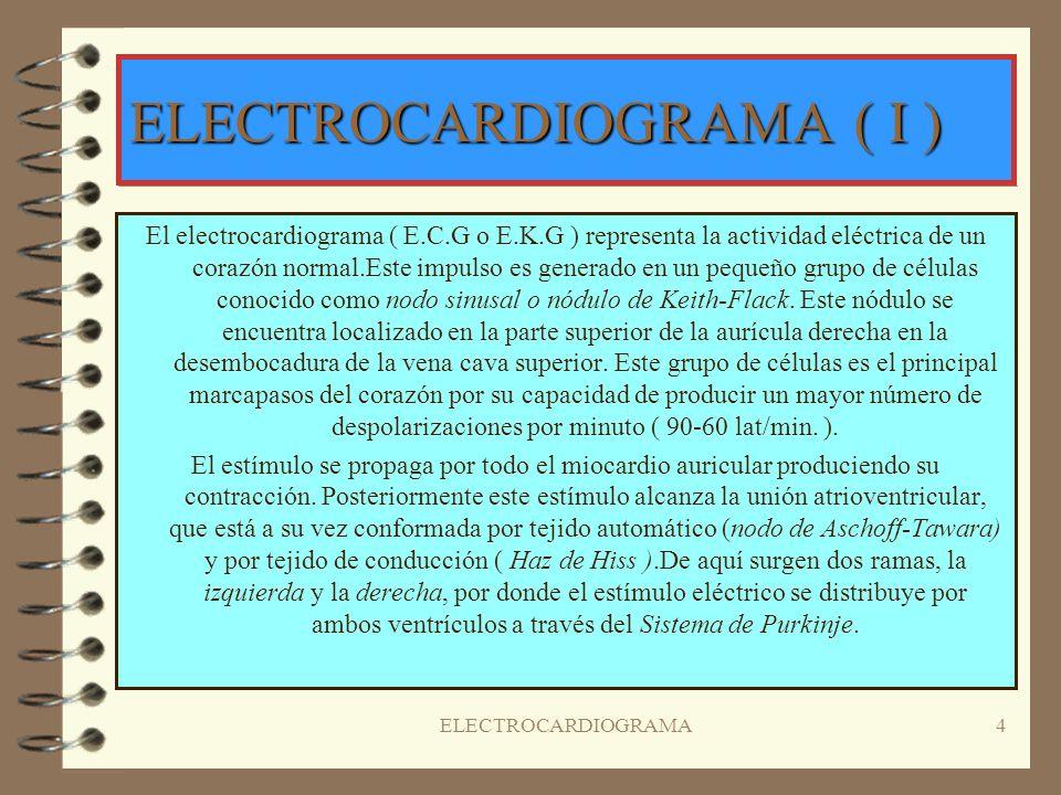 ELECTROCARDIOGRAMA ( I )