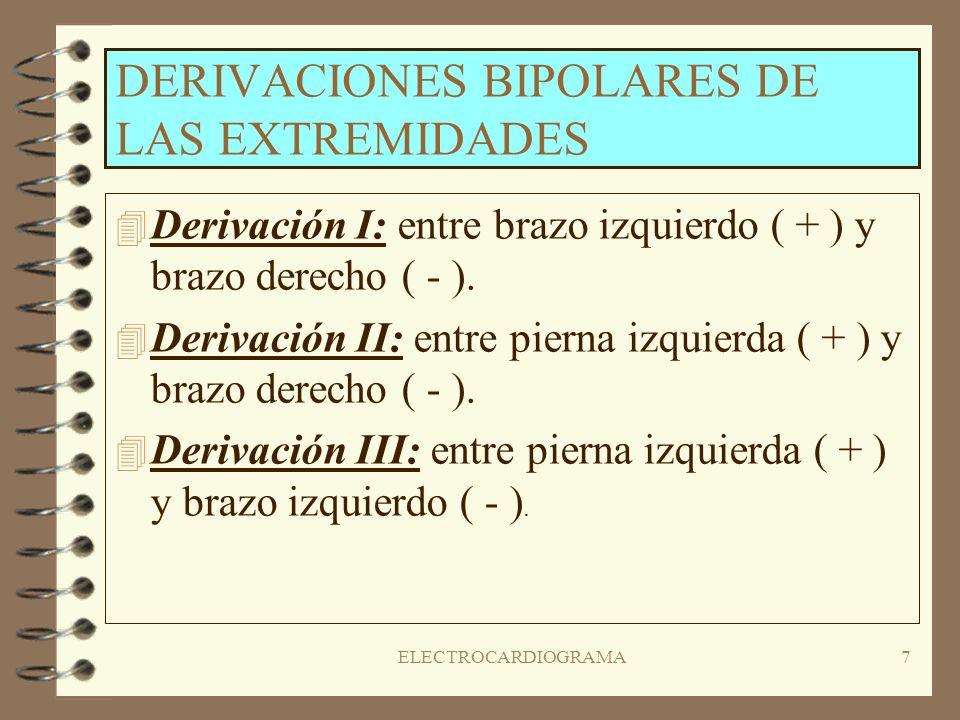 DERIVACIONES BIPOLARES DE LAS EXTREMIDADES