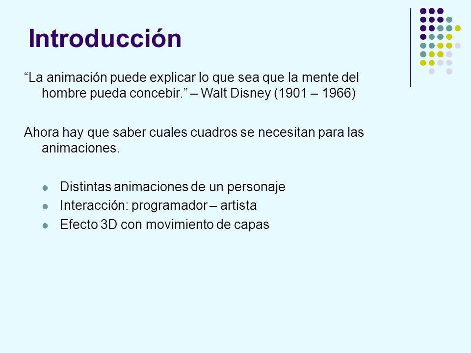 Introducción La animación puede explicar lo que sea que la mente del hombre pueda concebir. – Walt Disney (1901 – 1966)