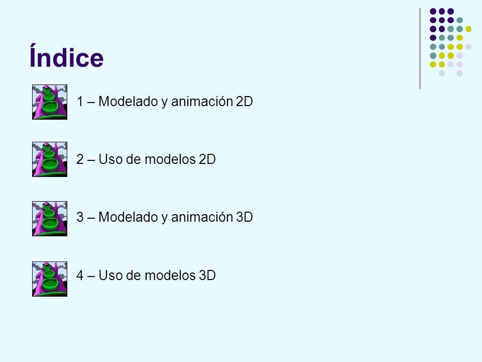 Índice 1 – Modelado y animación 2D 2 – Uso de modelos 2D