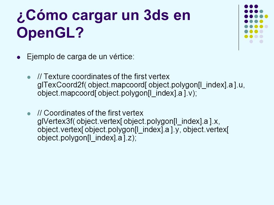 ¿Cómo cargar un 3ds en OpenGL