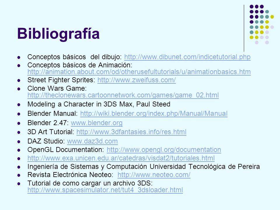Bibliografía Conceptos básicos del dibujo: http://www.dibunet.com/indicetutorial.php.